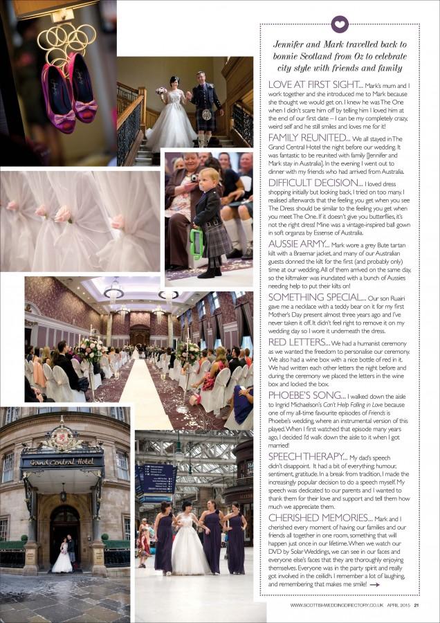 Grand Central Hotel Wedding Photographers